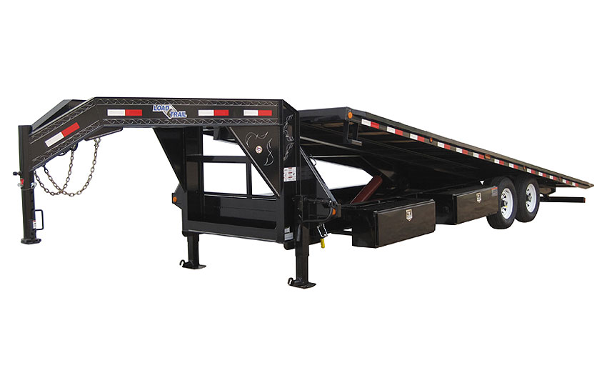 "102"" X 28' TANDEM GOOSENECK EQUIPMENT TILT DECK"