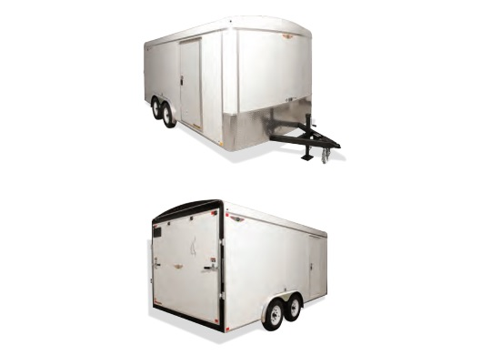 2019 H and H Trailer 101X20 TANDEM RND TOP HH VNOSE 10K CARGO