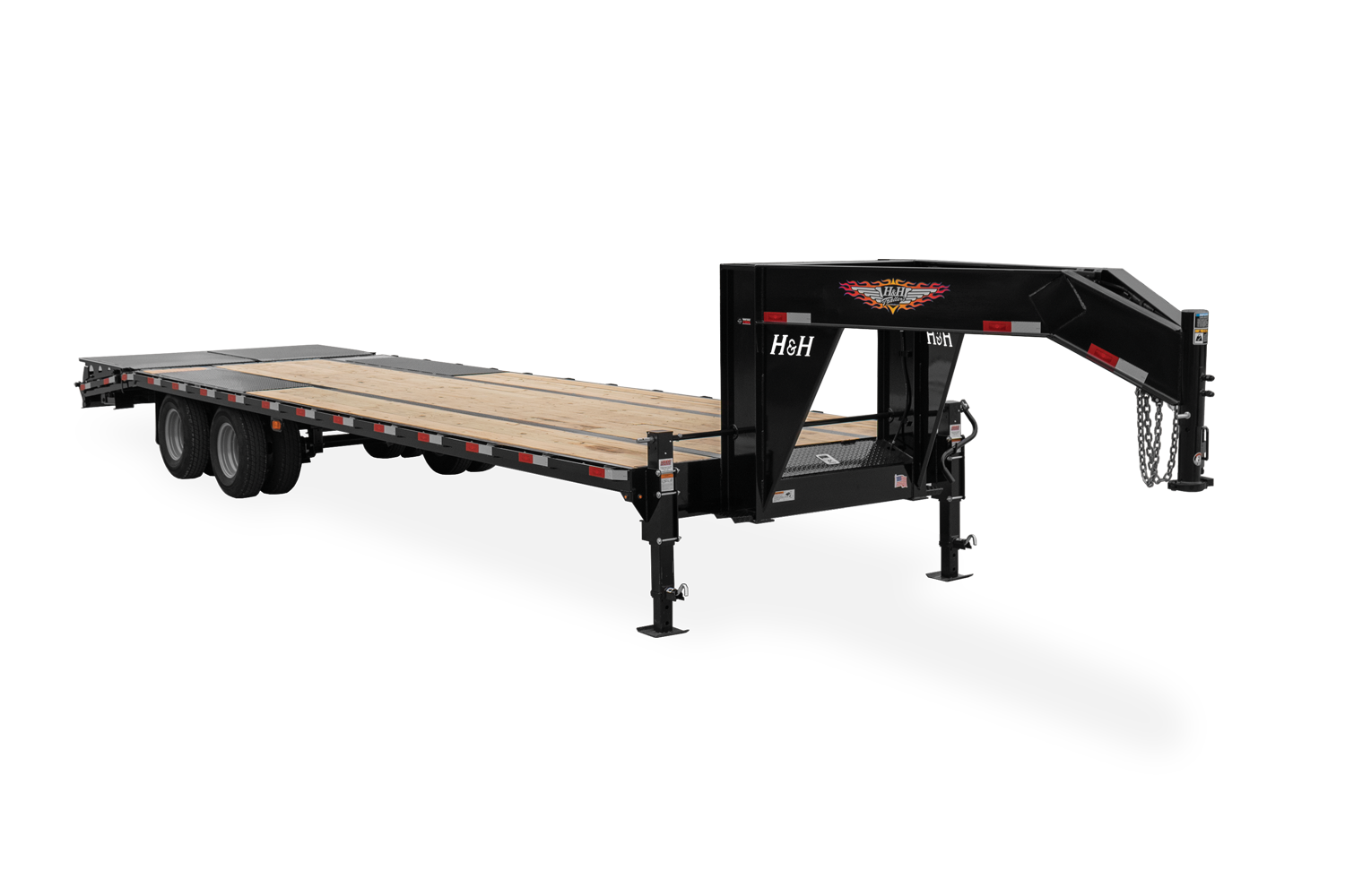 2021 H and H Trailer 102x20+5 Low Profile Dovetail Super Delu