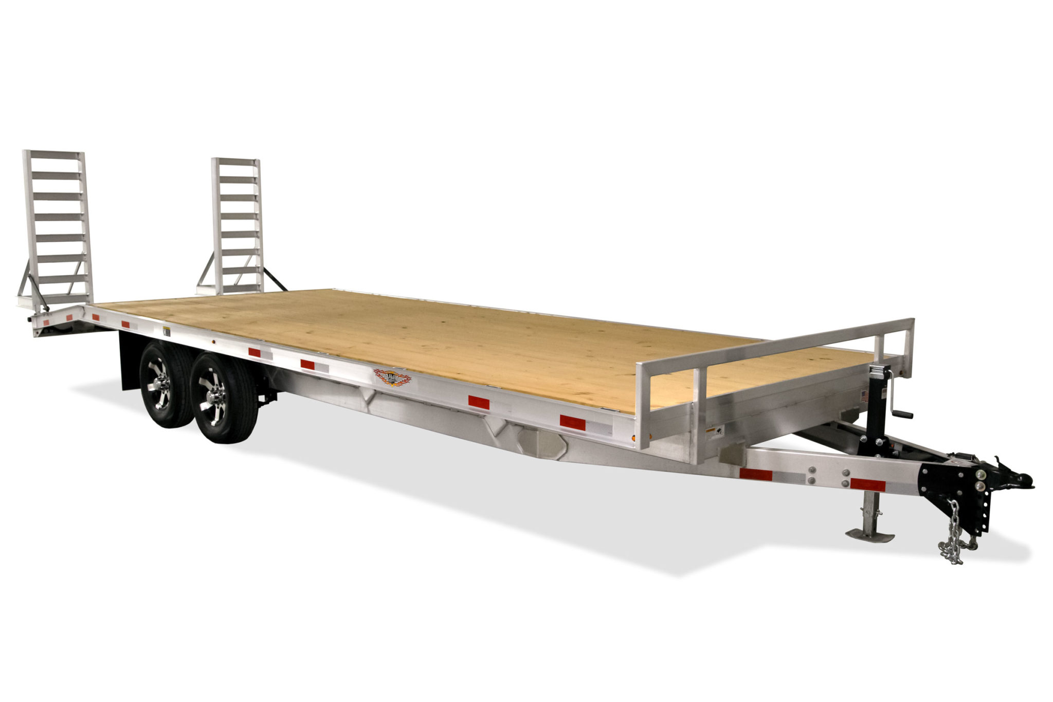 2021 H and H Trailer 102x20 Aluminum Deckover Trailer  10K