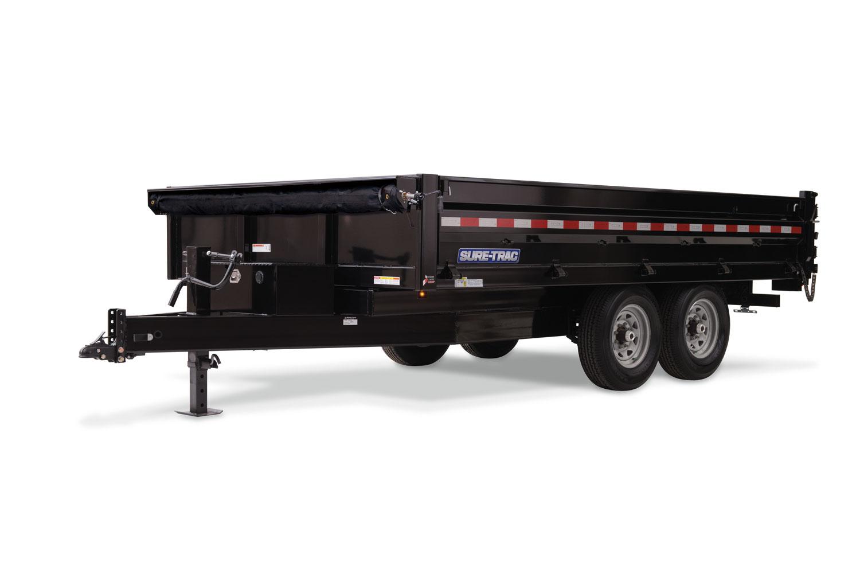 2021 Sure-Trac 8 x 14 HD Deckover Dump w/ Fold-Down Sid