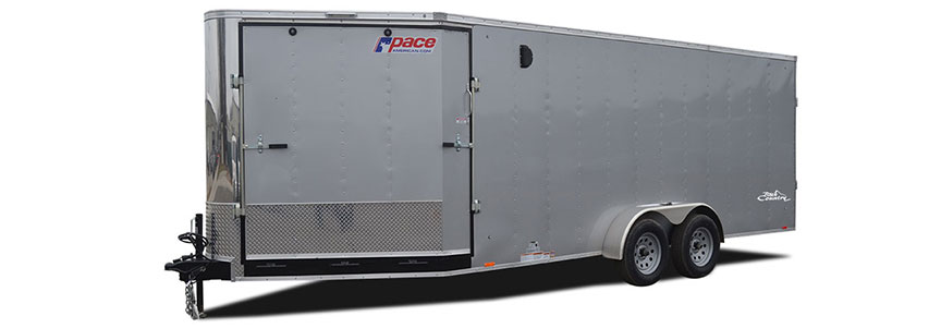 2018 Pace American Backcountry 7x27 Flat Top Snow/ Atv Trailer Snowmobile Trailer
