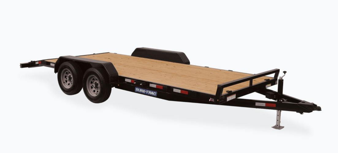 2021 Sure-Trac 7 x 22 (20+2) C-Channel Car Hauler Trail
