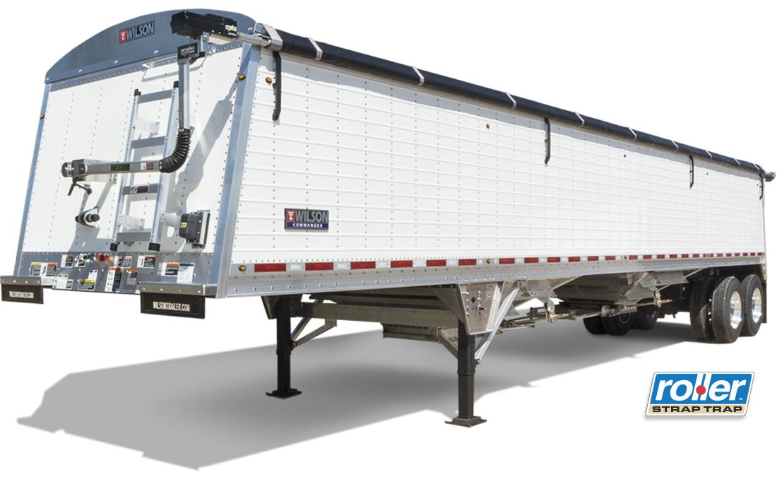 Wilson Trailer Company Commander Sloped Double Wall Aluminum Grain Trailer