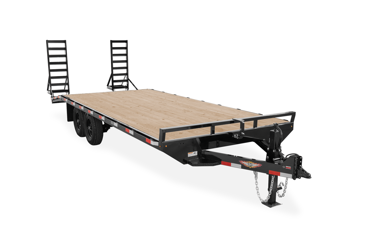 2021 H and H Trailer 102x20+4 Standard Duty Dovetail Bumper P