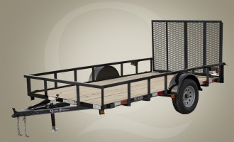 "Quality Trailers 60"" x 12' Single Axle General Duty Utility Trailer"
