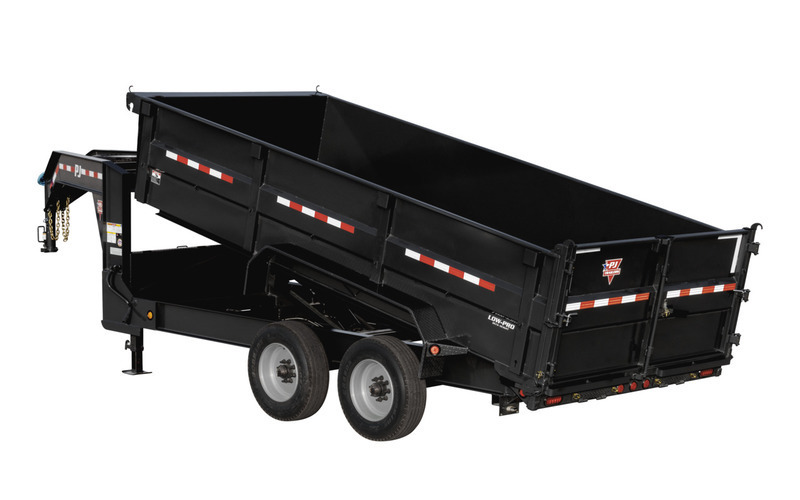 "PJ Trailers 82.5"" x 16'  HD Low-Pro Dump (DE)"