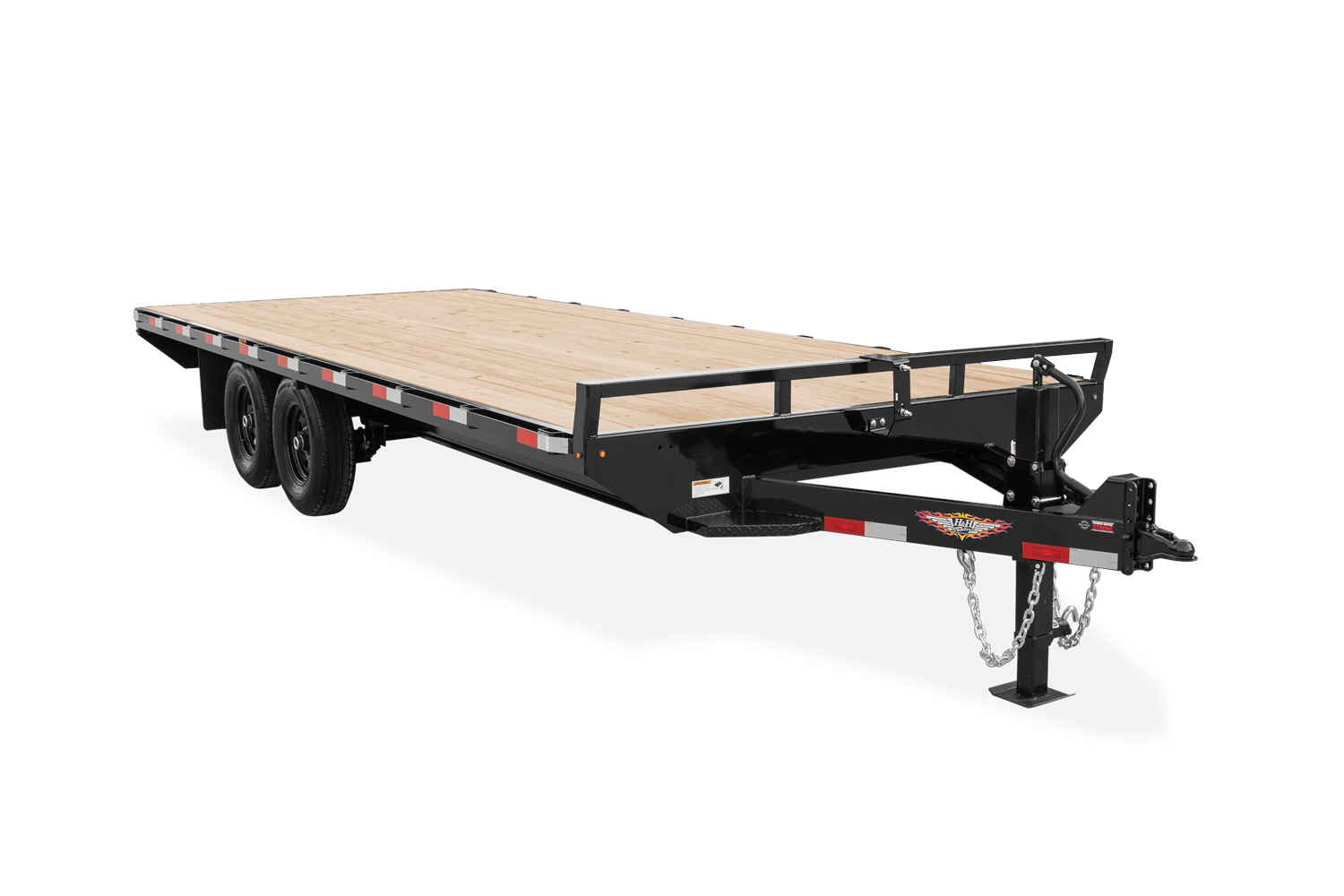 2021 H and H Trailer 102x20 Standard Duty Deckover Trailer  1