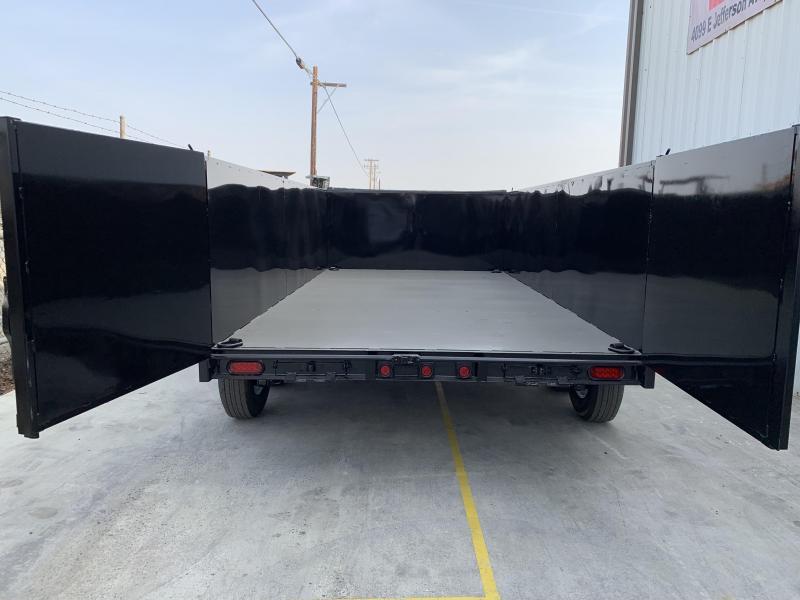 R & J Trailers Inc 7 x 14 14K 3' Walls Dump