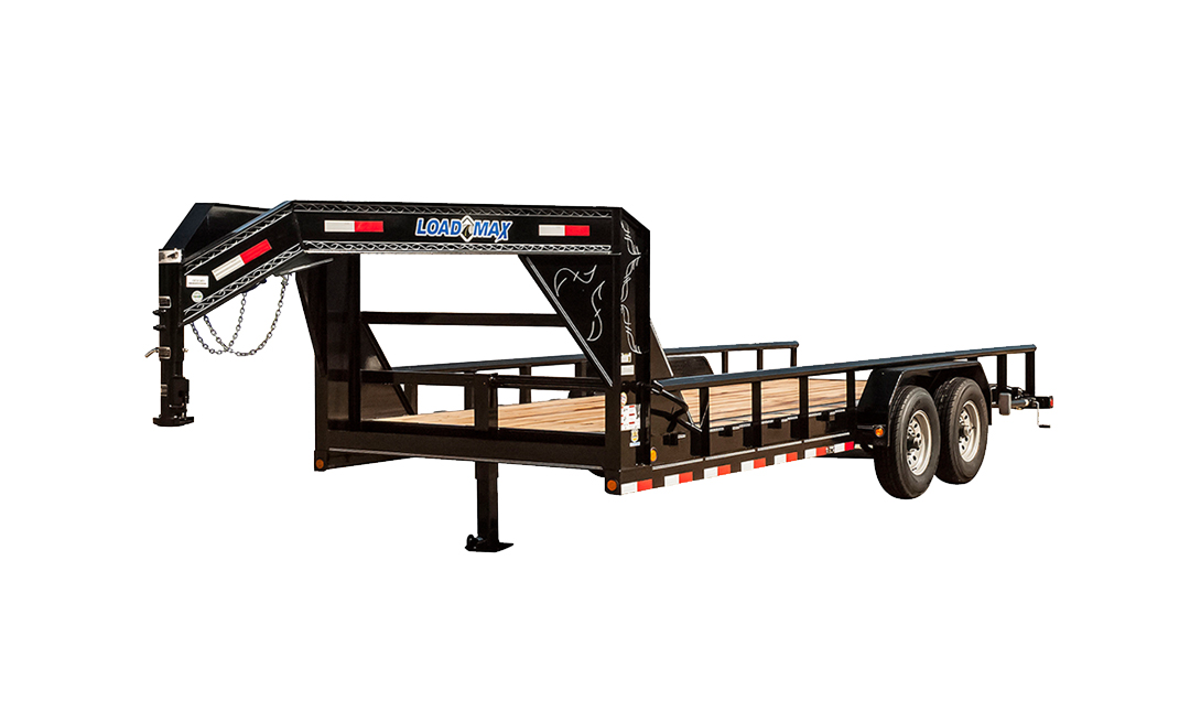 """Load Trail GF21 - Gooseneck Carhauler 21000 Lb w/8"""" Channel Frame and Pipe Top"""