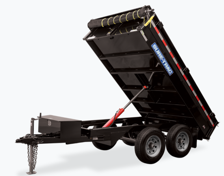 2021 Sure-Trac 6 X 10 SD Deckover Dump Trailer  7K Sing