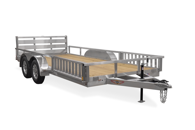 2021 H and H Trailer 82x20 Aluminum ATV Trailer  7K Tandem