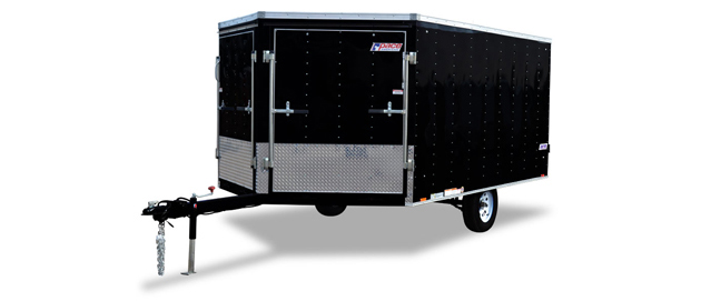 2018 Pace American White-out 8.5 Wide Snowmobile Trailer