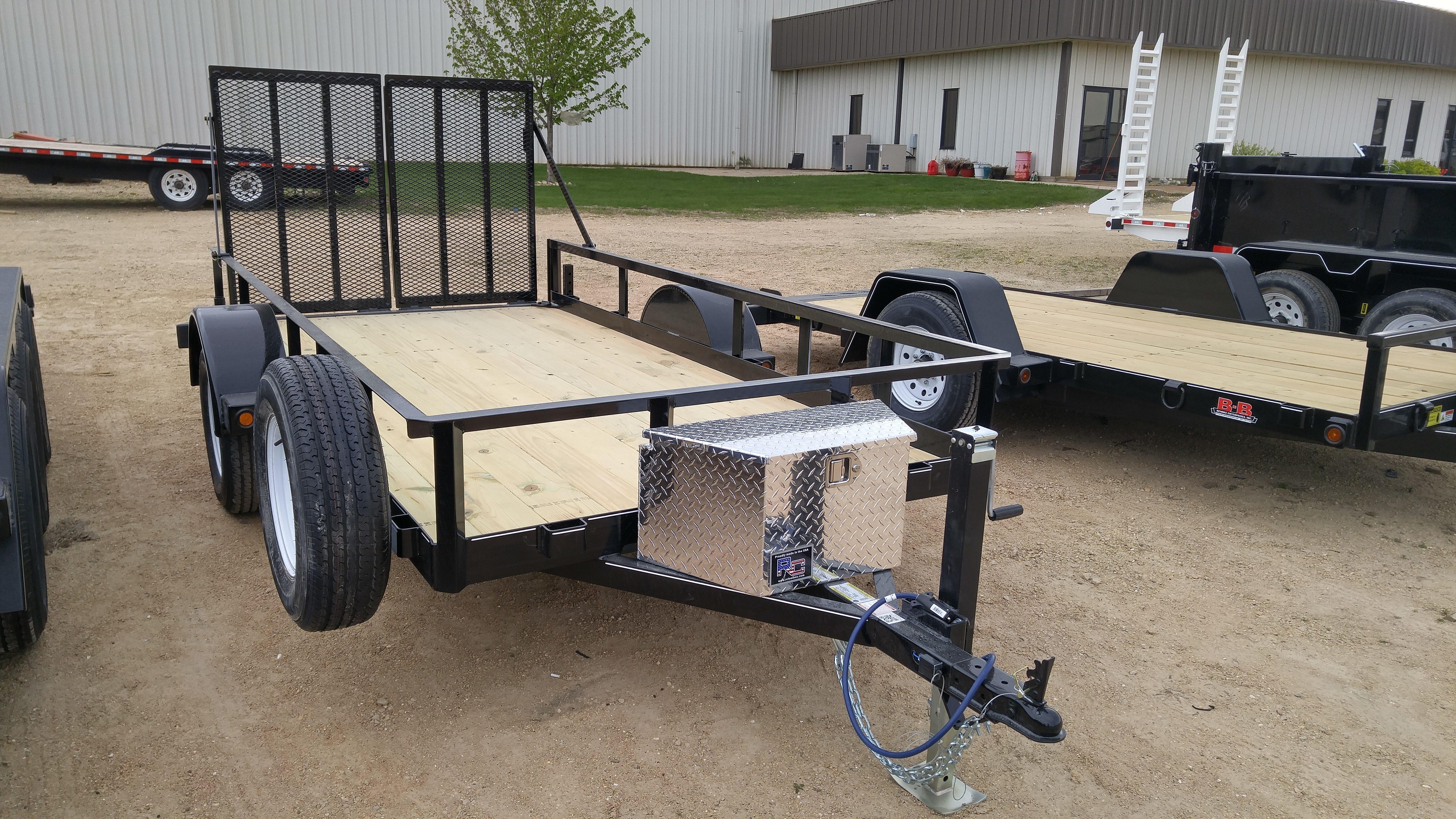 B-B Single Axle Utility Trailers