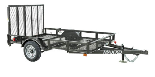 MAXXD S1M - White Series 2K Angle Single Axle Utility Trailer