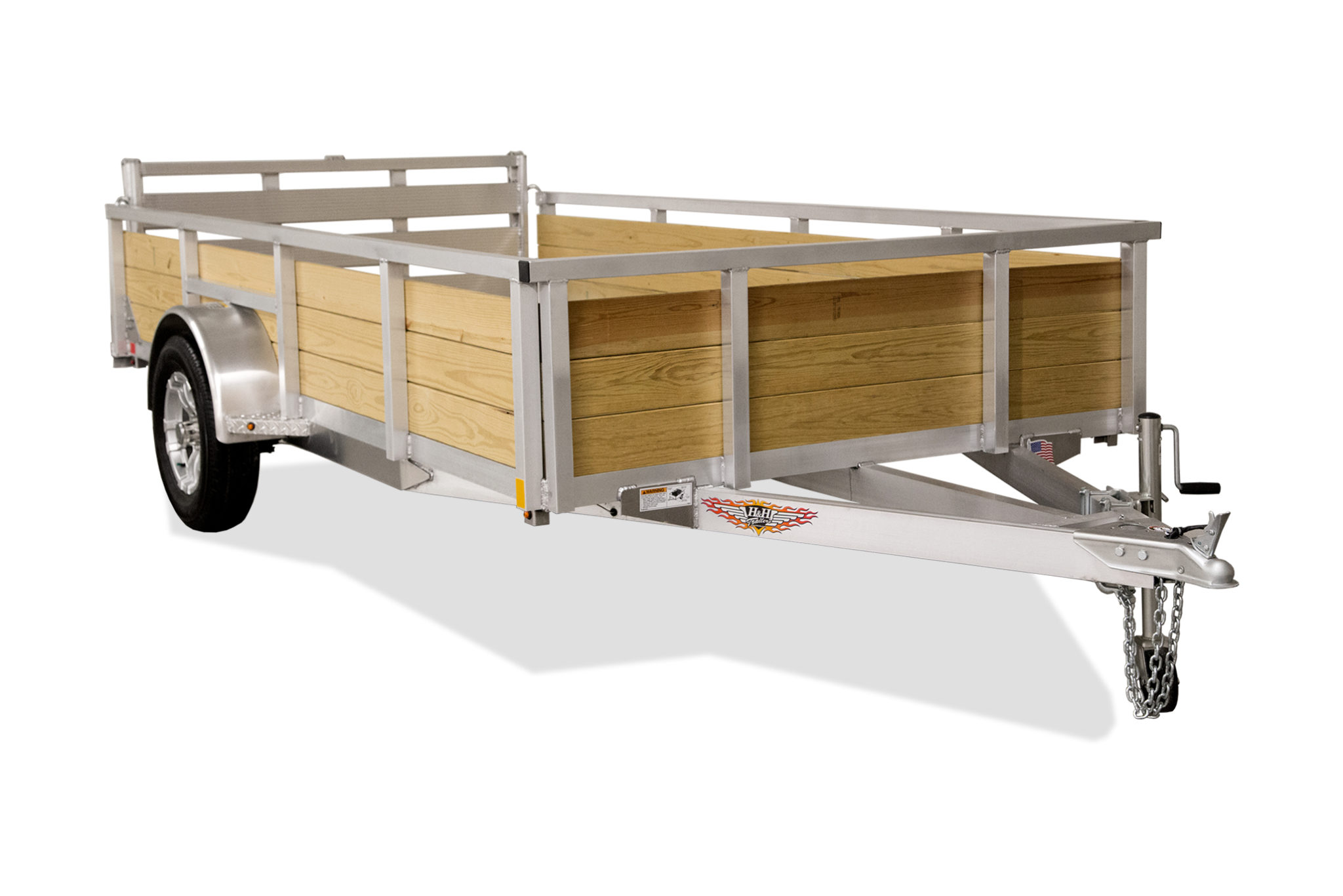 NEW 76X10 WOOD-SIDE ALUMINUM TRAILER