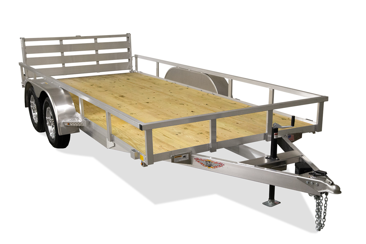 "2021 H and H Trailesr 6'8"" X 16'  Tandem Aluminum Landscape Trailer 7K"
