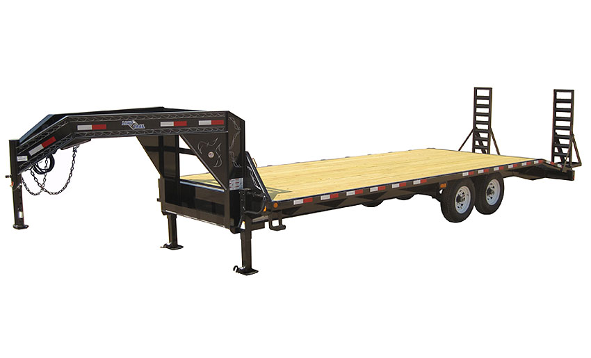"2012 Load Trail 102"" X 30' Standard Gooseneck   3-7,000 lb Axles 8' Slide In Ramps"