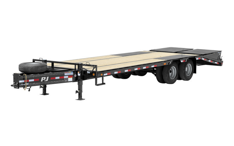 """PJ Trailers 102"""" x 28' Low-Pro Pintle With Duals (PL)"""