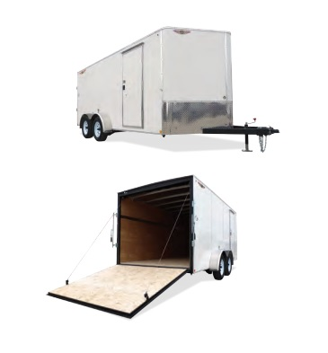 2019 H and H Trailer 6X12 TANDEM FLAT TOP HH VNOSE 7K CARGO