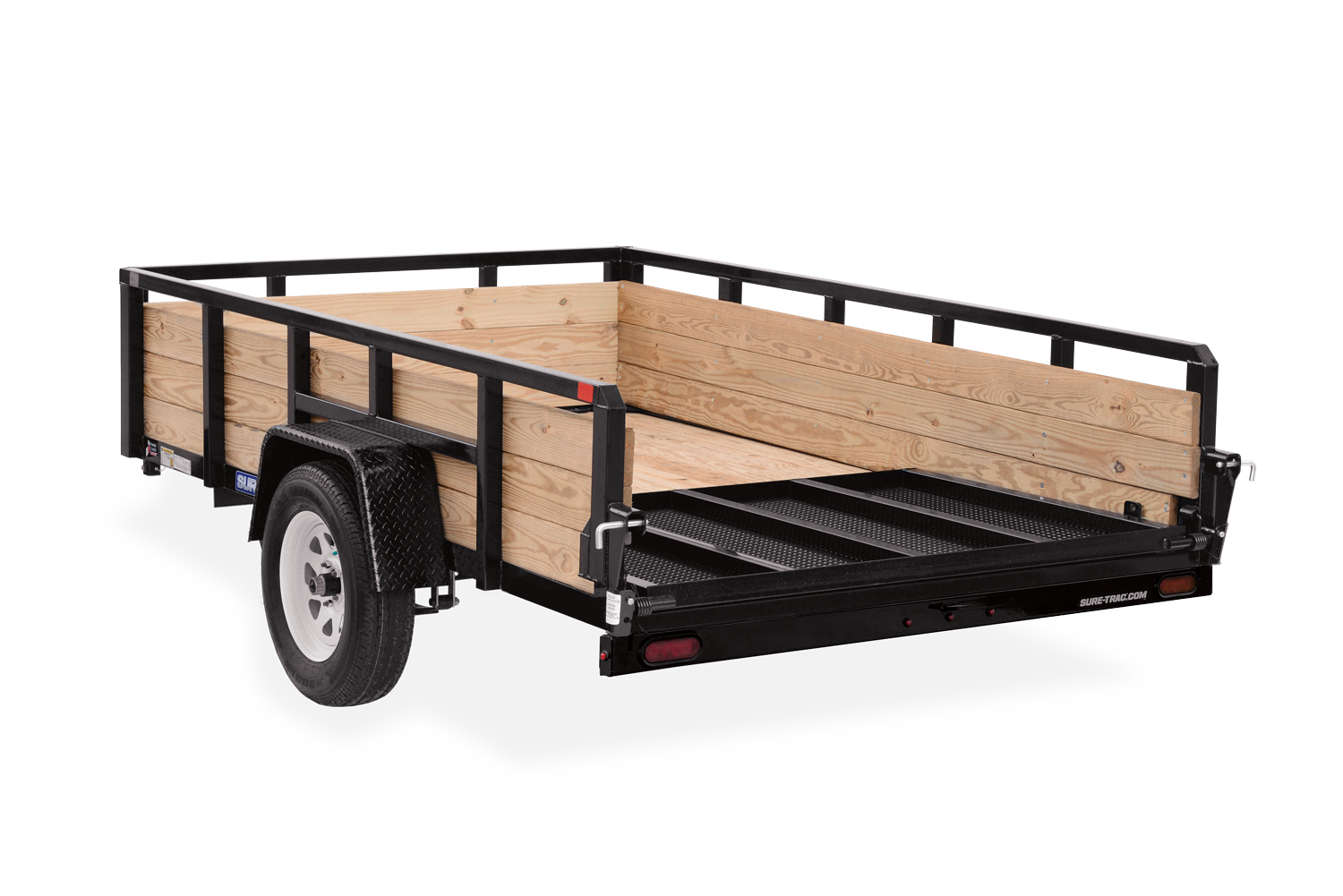 2021 Sure-Trac 7 x 12 Tube Top Three Board Trailer  5K