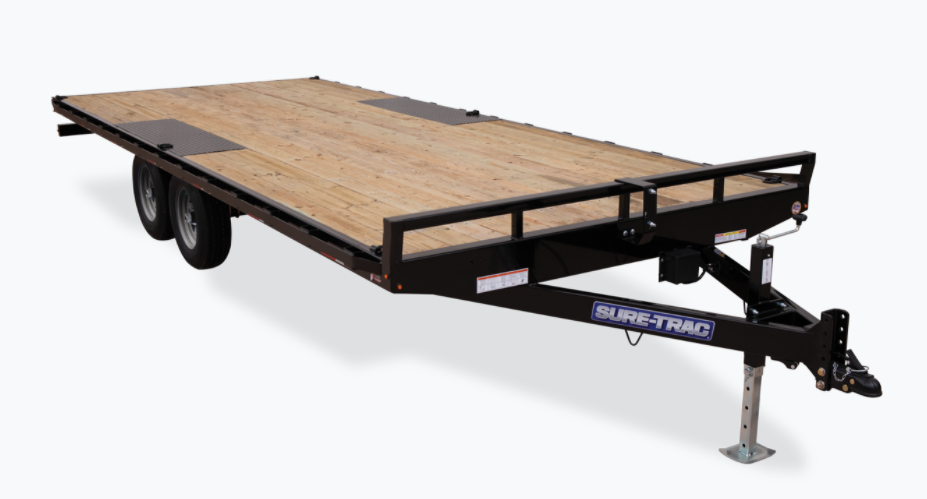 2021 Sure-Trac 8.5 x 18 Low Profile Flat Deck Deckover