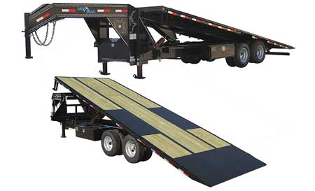 "102"" X 26' TANDEM HEAVY DUTY GOOSENECK EQUIPMENT TILT DECK"