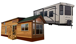 Park Models and Destination Trailers for sale in Pierceton, IN and Palm Bay, FL