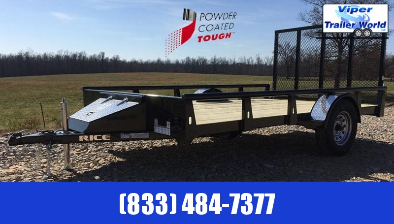 2021 Rice Trailers Tandem Utility Pipe Toprail Trailers Utility Trailer