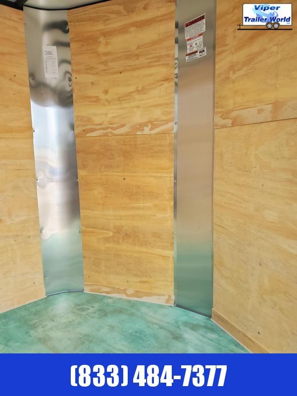 "2021 Arising 7 x 16 TA V-Nose Ramp 6'3"" Interior"