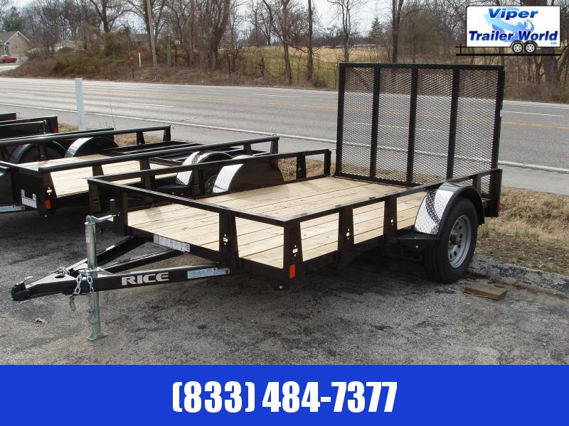 "2021 Rice Trailer | 76"" x 12' Single Axle Utility w/Gate"