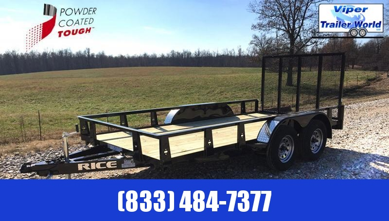 2021 Rice Trailers 76X12 Utility Trailer