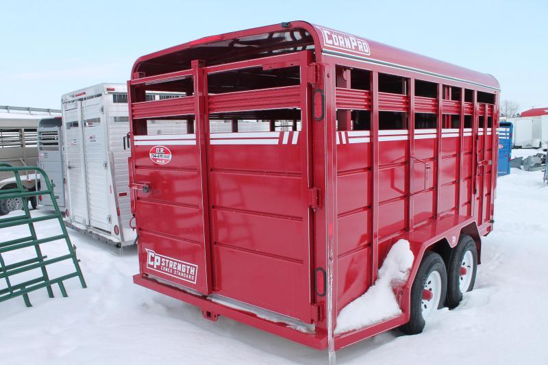 2021 CornPro Trailers 16' STOCK Livestock Trailer