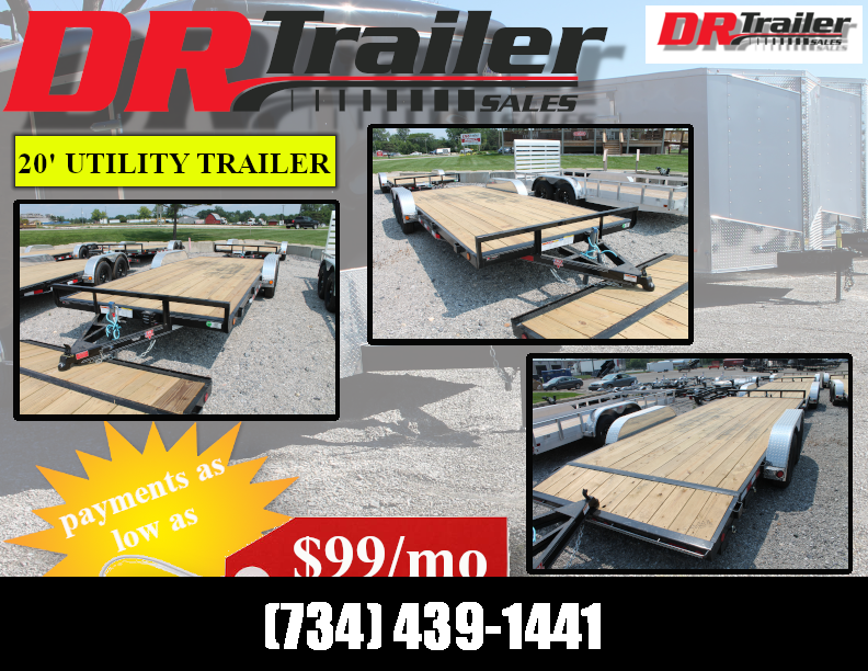 2022 PJ Trailers 20' SR 7K GVWR LANDSCAPE UTILITY TRAILER Utility Trailer