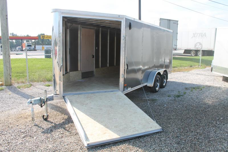 2022 RC Trailers 7' X 21' ENCLOSED SNOW COMBO TRAILER Snowmobile Trailer