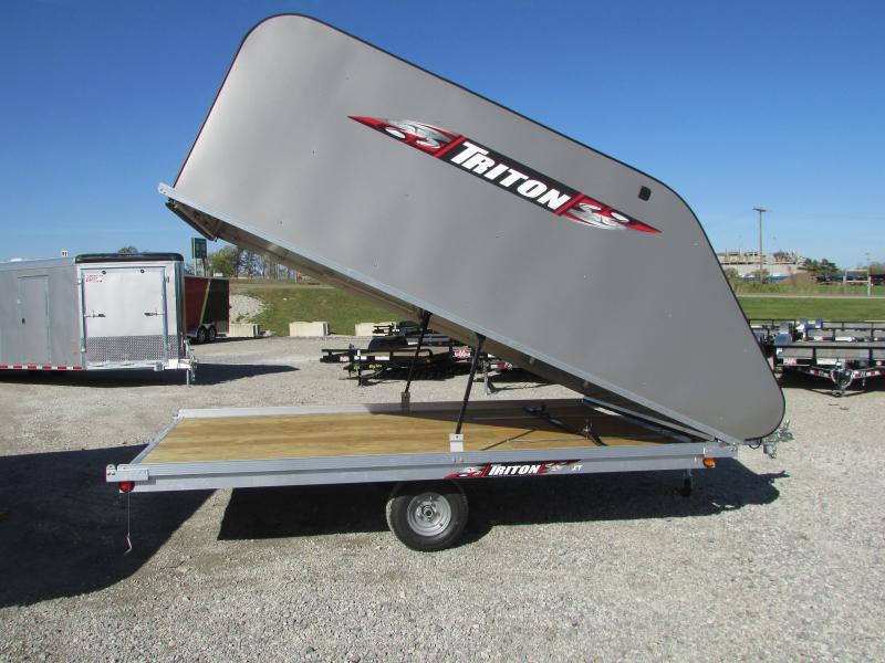 Triton Trailers XT 12 Tlt Style Snowmobile Trailer W/Cover