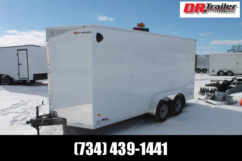 "2021 RC Trailers 7' X 16' + 12"" RD DLX Enclosed Cargo Trailer"