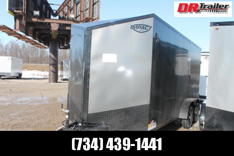 "2021 Impact Trailers 7' X 16' + 12"" RD Enclosed Cargo Trailer"