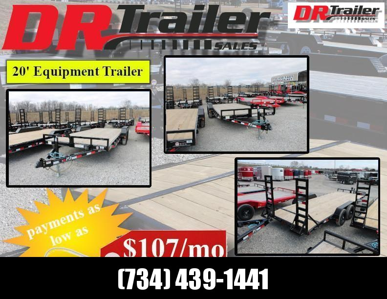 2020 PJ Trailers 20' Equipment Trailer Equipment Trailer
