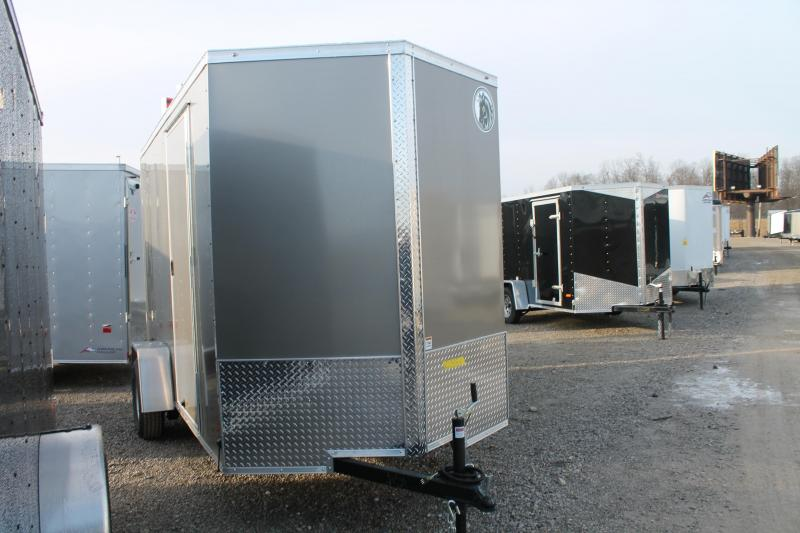 "2021 Darkhorse Cargo 6' X 12' + 12"" RD Enclosed Cargo Trailer"