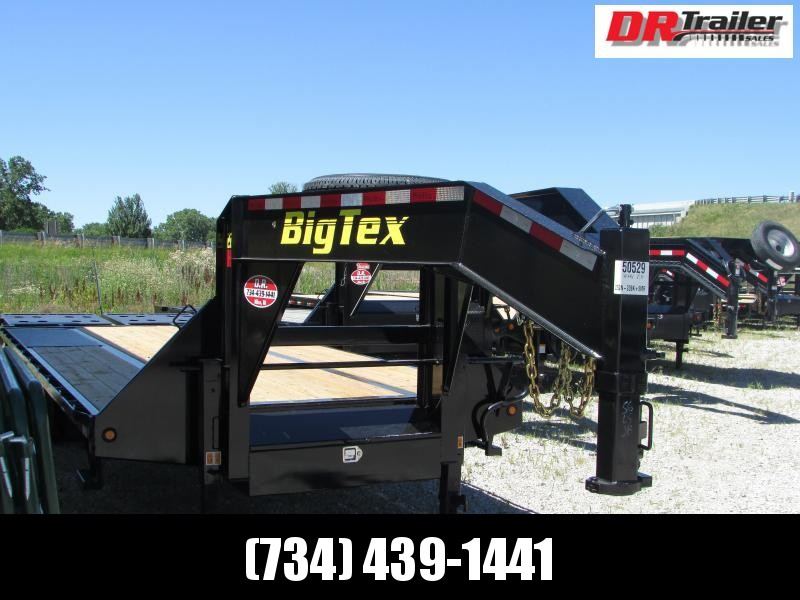 Big Tex Trailers 25 ft Mega Ramps Gooseneck Flatbed Trailer
