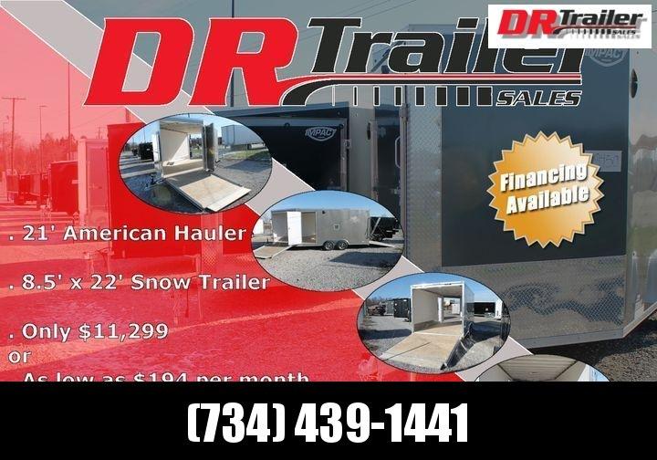 2021 American Hauler 8.5 X 22' 7K SNOW Snowmobile Trailer