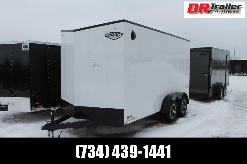 "2022 Impact Trailers 7' X 14' + 12"" RD Enclosed Cargo Trailer"