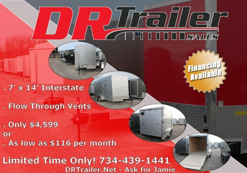 2021 Interstate 7' X 14' RD Enclosed Cargo Trailer
