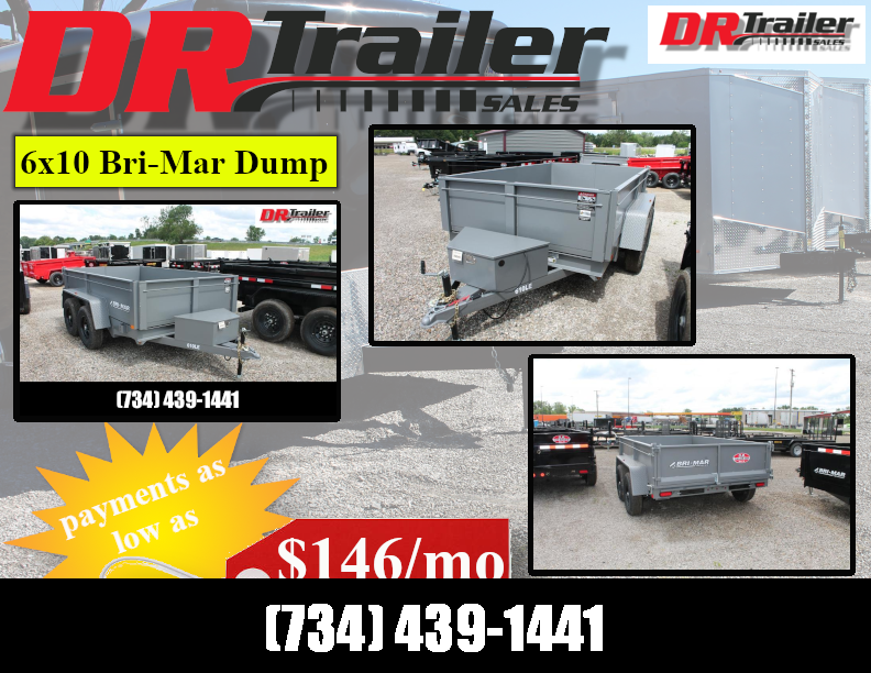2022 Bri-Mar 6X10 10K GVWR DUMP TRAILER Dump Trailer