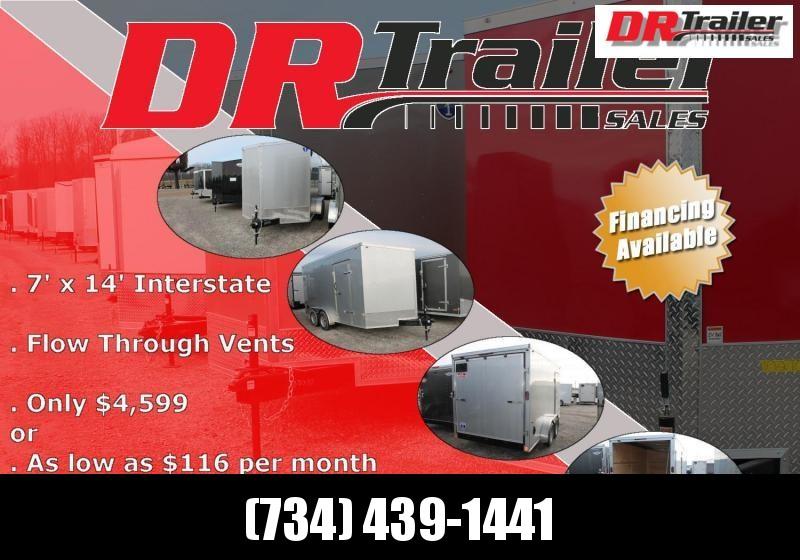 2021 Interstate 7' X 14' RD Enclosed Cargo Trailer