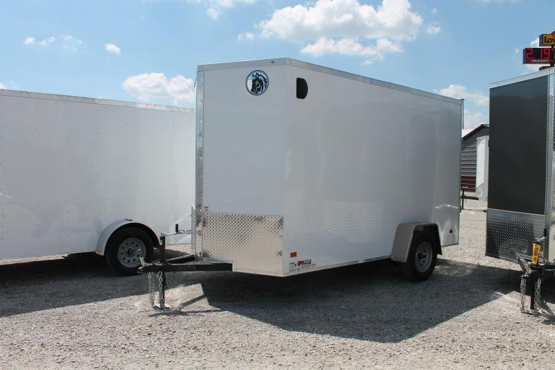 "2020 Darkhorse Cargo 6' X 12' + 12"" RD Enclosed Cargo Trailer"