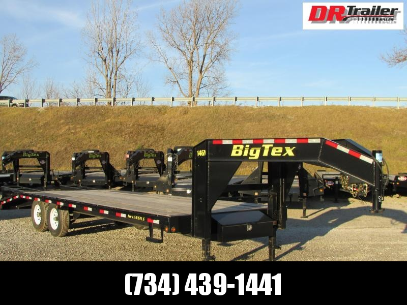 Big Tex Trailers 25' Flatbed Gooseneck Trailer