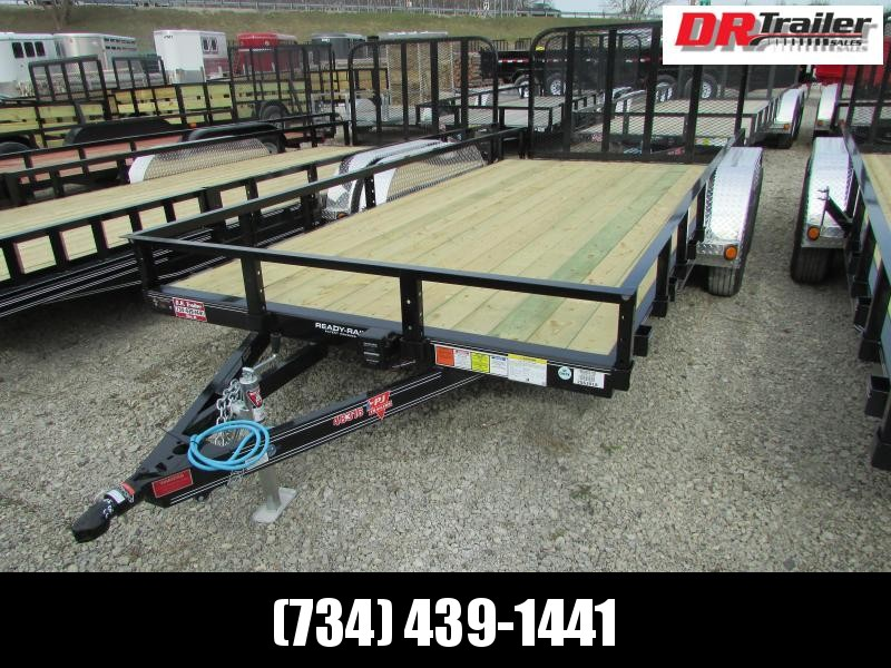 PJ Trailers 18 ft Landscape Commercial Grade Flatbed Trailer