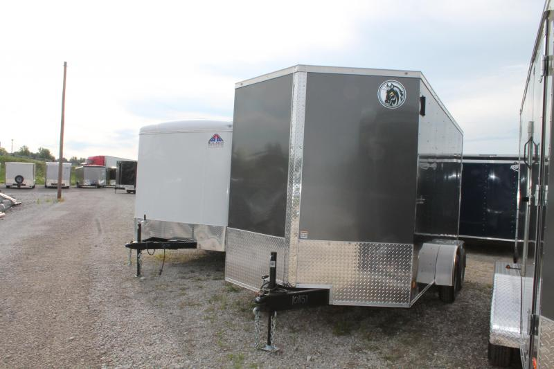 "2021 Darkhorse Cargo 7' X 14' + 12"" RD Enclosed Cargo Trailer"